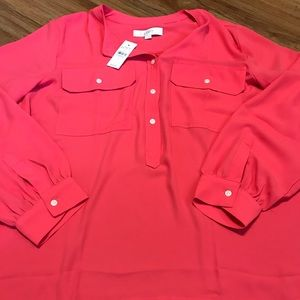 Loft Coral Top NWT Large